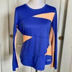 NWT Fila Long Sleeve Running Shirt w/ Mesh Panels